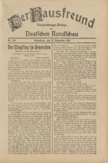 Der Hausfreund : Unterhaltungs-Beilage zur Deutschen Rundschau. 1932, Nr. 291 (20 Dezember)