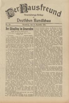 Der Hausfreund : Unterhaltungs-Beilage zur Deutschen Rundschau. 1932, Nr. 295 (24 Dezember)