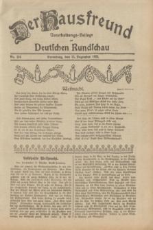 Der Hausfreund : Unterhaltungs-Beilage zur Deutschen Rundschau. 1932, Nr. 296 (25 Dezember)