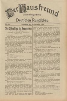 Der Hausfreund : Unterhaltungs-Beilage zur Deutschen Rundschau. 1932, Nr. 297 (28 Dezember)