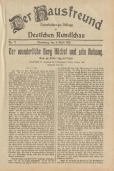 Der Hausfreund : Unterhaltungs-Beilage zur Deutschen Rundschau. 1933, Nr. 77 (2 April)