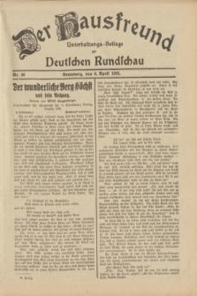 Der Hausfreund : Unterhaltungs-Beilage zur Deutschen Rundschau. 1933, Nr. 80 (6 April)