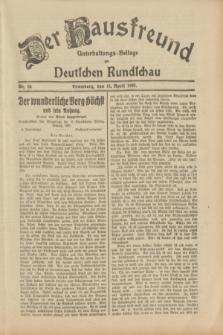 Der Hausfreund : Unterhaltungs-Beilage zur Deutschen Rundschau. 1933, Nr. 84 (11 April)