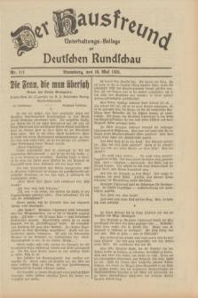 Der Hausfreund : Unterhaltungs-Beilage zur Deutschen Rundschau. 1933, Nr. 111 (16 Mai)