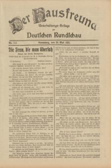 Der Hausfreund : Unterhaltungs-Beilage zur Deutschen Rundschau. 1933, Nr. 115 (20 Mai)