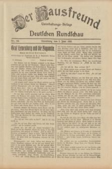 Der Hausfreund : Unterhaltungs-Beilage zur Deutschen Rundschau. 1933, Nr. 125 (2 Juni)