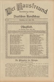 Der Hausfreund : Unterhaltungs-Beilage zur Deutschen Rundschau. 1933, Nr. 127 (4 Juni)