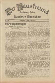 Der Hausfreund : Unterhaltungs-Beilage zur Deutschen Rundschau. 1933, Nr. 131 (10 Juni)