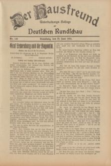 Der Hausfreund : Unterhaltungs-Beilage zur Deutschen Rundschau. 1933, Nr. 140 (22 Juni)