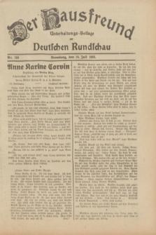 Der Hausfreund : Unterhaltungs-Beilage zur Deutschen Rundschau. 1933, Nr. 160 (16 Juli)