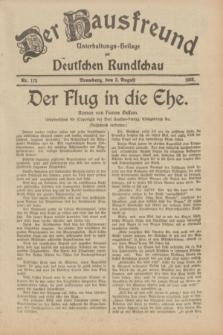 Der Hausfreund : Unterhaltungs-Beilage zur Deutschen Rundschau. 1933, Nr. 175 (3 August)
