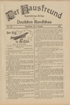 Der Hausfreund : Unterhaltungs-Beilage zur Deutschen Rundschau. 1933, Nr. 180 (9 August)