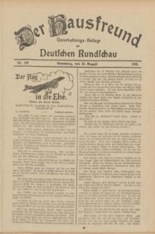 Der Hausfreund : Unterhaltungs-Beilage zur Deutschen Rundschau. 1933, Nr. 190 (22 August)