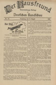 Der Hausfreund : Unterhaltungs-Beilage zur Deutschen Rundschau. 1933, Nr. 192 (24 August)