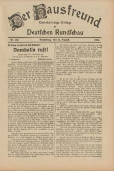 Der Hausfreund : Unterhaltungs-Beilage zur Deutschen Rundschau. 1933, Nr. 198 (31 August)