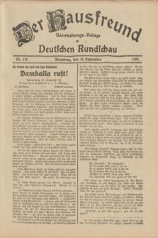 Der Hausfreund : Unterhaltungs-Beilage zur Deutschen Rundschau. 1933, Nr. 214 (19 September)