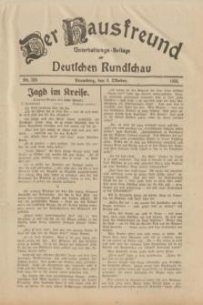 Der Hausfreund : Unterhaltungs-Beilage zur Deutschen Rundschau. 1933, Nr. 226 (3 Oktober)