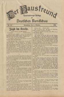 Der Hausfreund : Unterhaltungs-Beilage zur Deutschen Rundschau. 1933, Nr. 227 (4 Oktober)