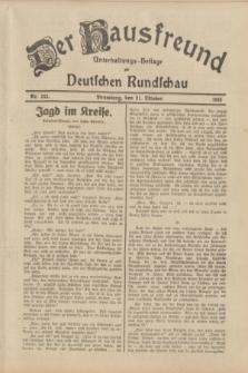 Der Hausfreund : Unterhaltungs-Beilage zur Deutschen Rundschau. 1933, Nr. 242 (21 Oktober)