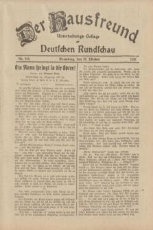 Der Hausfreund : Unterhaltungs-Beilage zur Deutschen Rundschau. 1933, Nr. 248 (28 Oktober)
