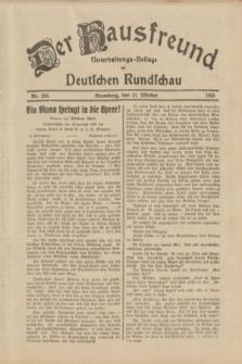 Der Hausfreund : Unterhaltungs-Beilage zur Deutschen Rundschau. 1933, Nr. 250 (31 Oktober)
