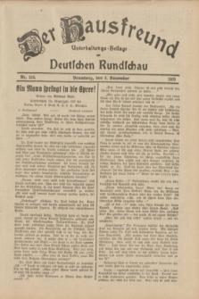 Der Hausfreund : Unterhaltungs-Beilage zur Deutschen Rundschau. 1933, Nr. 252 (3 November)