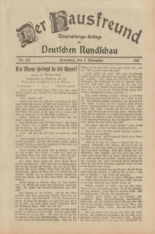 Der Hausfreund : Unterhaltungs-Beilage zur Deutschen Rundschau. 1933, Nr. 254 (5 November)