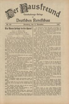 Der Hausfreund : Unterhaltungs-Beilage zur Deutschen Rundschau. 1933, Nr. 263 (16 November)