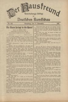 Der Hausfreund : Unterhaltungs-Beilage zur Deutschen Rundschau. 1933, Nr. 264 (17 November)