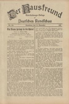 Der Hausfreund : Unterhaltungs-Beilage zur Deutschen Rundschau. 1933, Nr. 265 (18 November)