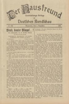 Der Hausfreund : Unterhaltungs-Beilage zur Deutschen Rundschau. 1933, Nr. 276 (1 Dezember)