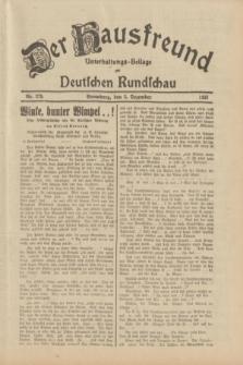 Der Hausfreund : Unterhaltungs-Beilage zur Deutschen Rundschau. 1933, Nr. 279 (5 Dezember)