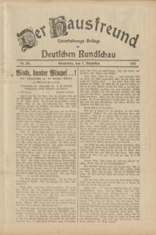 Der Hausfreund : Unterhaltungs-Beilage zur Deutschen Rundschau. 1933, Nr. 281 (7 Dezember)