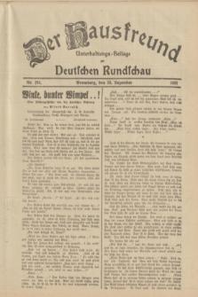 Der Hausfreund : Unterhaltungs-Beilage zur Deutschen Rundschau. 1933, Nr. 294 (23 Dezember)