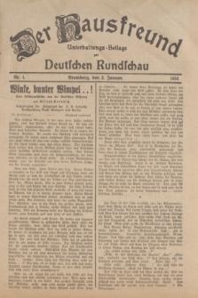 Der Hausfreund : Unterhaltungs-Beilage zur Deutschen Rundschau. 1934, Nr. 1 (3 Januar)