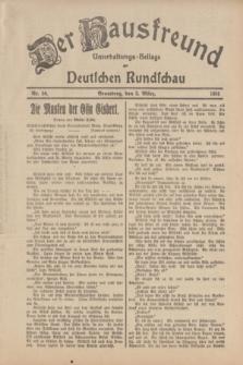 Der Hausfreund : Unterhaltungs-Beilage zur Deutschen Rundschau. 1934, Nr. 50 (3 März)