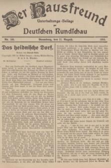 Der Hausfreund : Unterhaltungs-Beilage zur Deutschen Rundschau. 1934, Nr. 188 (21 August)