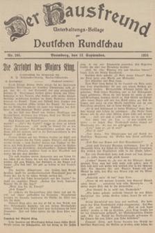 Der Hausfreund : Unterhaltungs-Beilage zur Deutschen Rundschau. 1934, Nr. 208 (13 September)