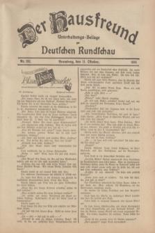Der Hausfreund : Unterhaltungs-Beilage zur Deutschen Rundschau. 1934, Nr. 232 (11 Oktober)