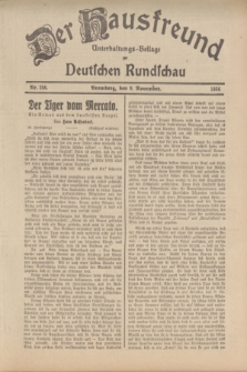 Der Hausfreund : Unterhaltungs-Beilage zur Deutschen Rundschau. 1934, Nr. 256 (9 November)