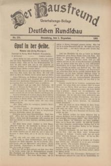 Der Hausfreund : Unterhaltungs-Beilage zur Deutschen Rundschau. 1934, Nr. 278 (5 Dezember)