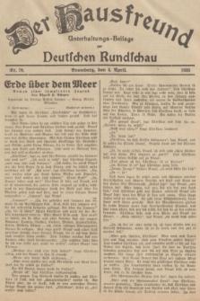Der Hausfreund : Unterhaltungs-Beilage zur Deutschen Rundschau. 1935, Nr. 79 (4 April)