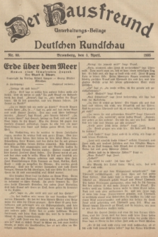 Der Hausfreund : Unterhaltungs-Beilage zur Deutschen Rundschau. 1935, Nr. 80 (5 April)