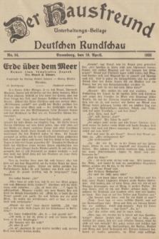 Der Hausfreund : Unterhaltungs-Beilage zur Deutschen Rundschau. 1935, Nr. 84 (10 April)