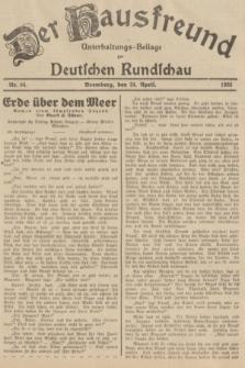 Der Hausfreund : Unterhaltungs-Beilage zur Deutschen Rundschau. 1935, Nr. 94 (24 April)