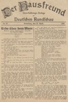 Der Hausfreund : Unterhaltungs-Beilage zur Deutschen Rundschau. 1935, Nr. 98 (28 April)
