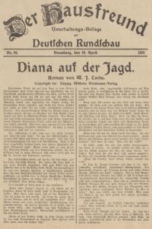 Der Hausfreund : Unterhaltungs-Beilage zur Deutschen Rundschau. 1935, Nr. 99 (30 April)