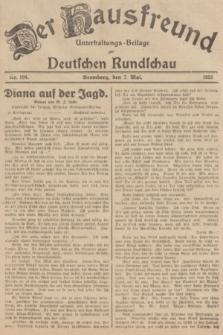 Der Hausfreund : Unterhaltungs-Beilage zur Deutschen Rundschau. 1935, Nr. 104 (7 Mai)