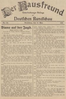 Der Hausfreund : Unterhaltungs-Beilage zur Deutschen Rundschau. 1935, Nr. 110 (14 Mai)