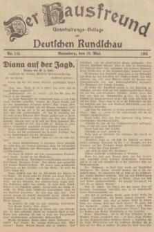 Der Hausfreund : Unterhaltungs-Beilage zur Deutschen Rundschau. 1935, Nr. 115 (19 Mai)